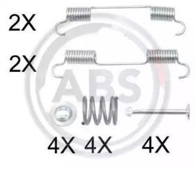 Ремкомплект барабанных колодок A.B.S. 0897Q