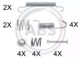 Ремкомплект барабанных колодок A.B.S. 0899Q