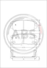 Тормозные колодки A.B.S. 36781
