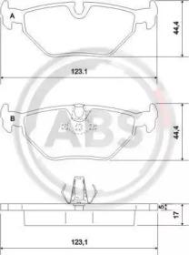 Тормозные колодки A.B.S. 36908