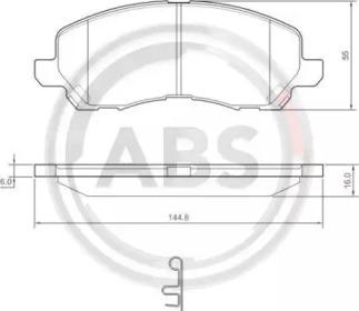 Тормозные колодки A.B.S. 37202