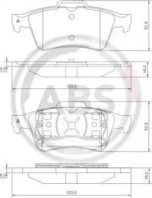 Тормозные колодки A.B.S. 37216