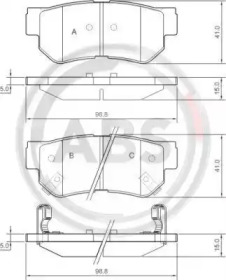 Тормозные колодки A.B.S. 37247