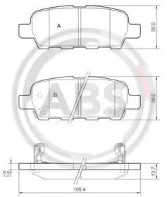 Тормозные колодки A.B.S. 37321