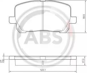 Тормозные колодки A.B.S. 37328