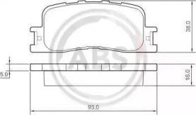 Тормозные колодки A.B.S. 37355