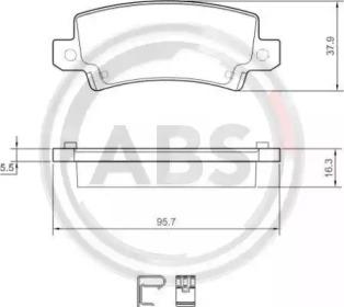 Тормозные колодки A.B.S. 37406