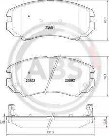 Тормозные колодки A.B.S. 37423