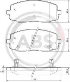 Тормозные колодки A.B.S. 37474