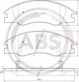 Тормозные колодки A.B.S. 37492