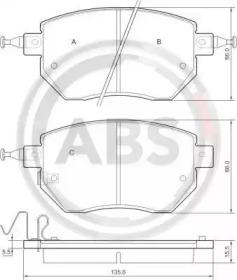 Тормозные колодки A.B.S. 37504