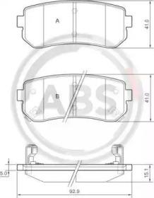 Тормозные колодки A.B.S. 37533