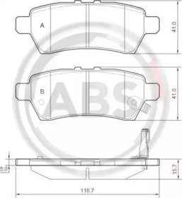 Тормозные колодки A.B.S. 37536