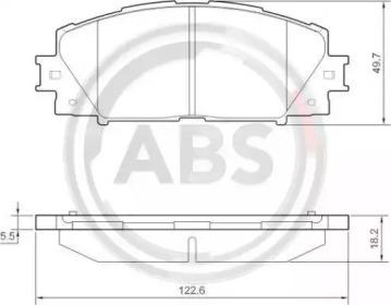 Тормозные колодки A.B.S. 37542