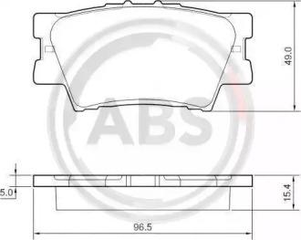 Тормозные колодки A.B.S. 37545