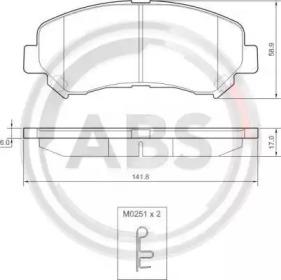 Тормозные колодки A.B.S. 37625