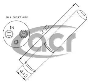 Осушитель кондиционера ACR 170488