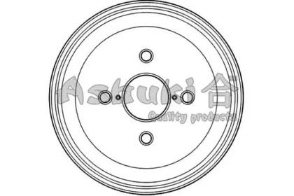Тормозной барабан ASHUKI 10204005
