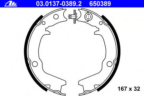 Тормозные колодки барабанные ATE 03013703892