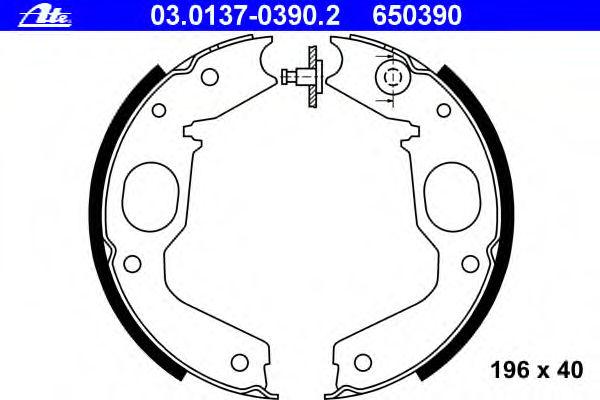 Тормозные колодки барабанные ATE 03013703902