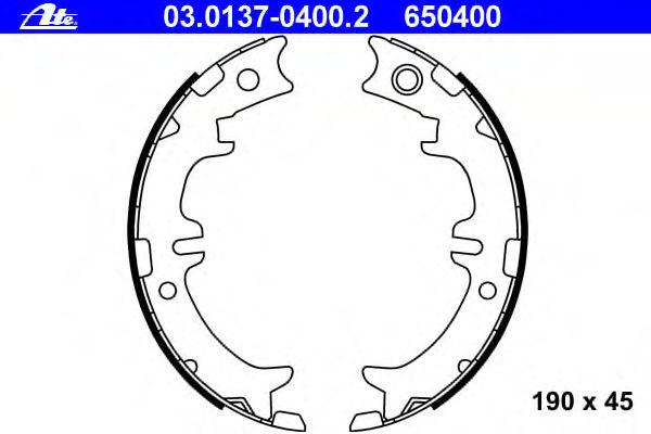 Тормозные колодки барабанные ATE 03013704002