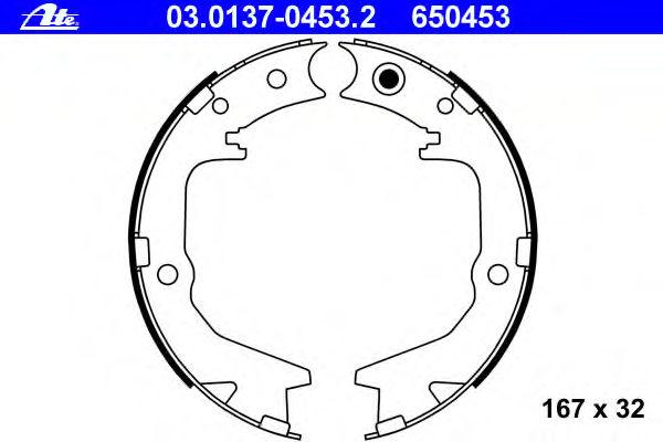 Тормозные колодки барабанные ATE 03013704532