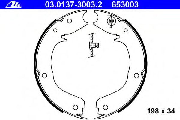 Тормозные колодки барабанные ATE 03013730032