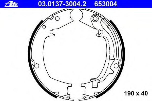 Тормозные колодки барабанные ATE 03013730042