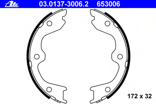 Тормозные колодки барабанные ATE 03013730062