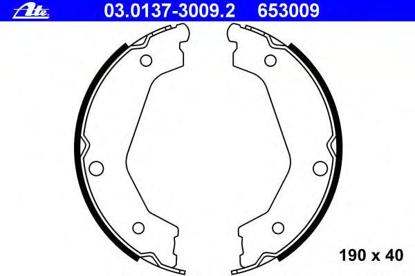 Тормозные колодки барабанные ATE 03013730092