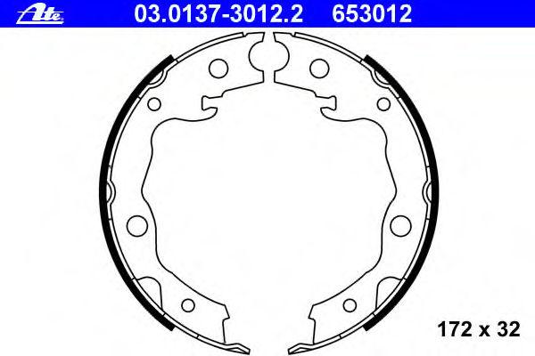 Тормозные колодки барабанные ATE 03013730122