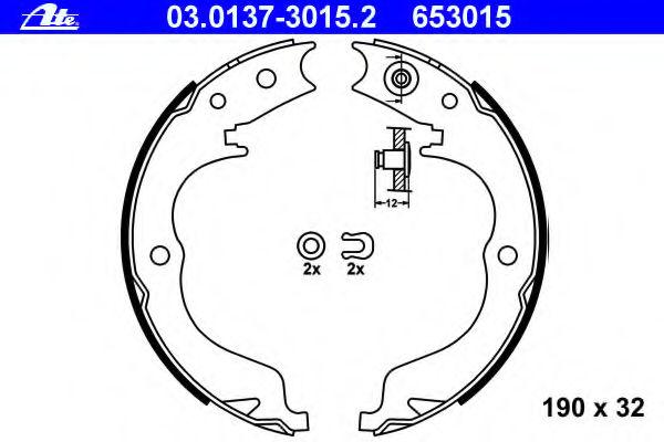Тормозные колодки барабанные ATE 03013730152