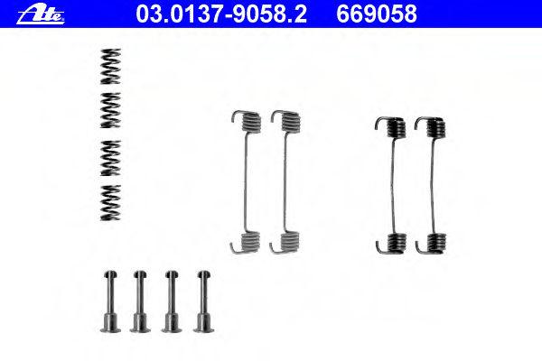 Ремкомплект барабанных колодок ATE 03013790582