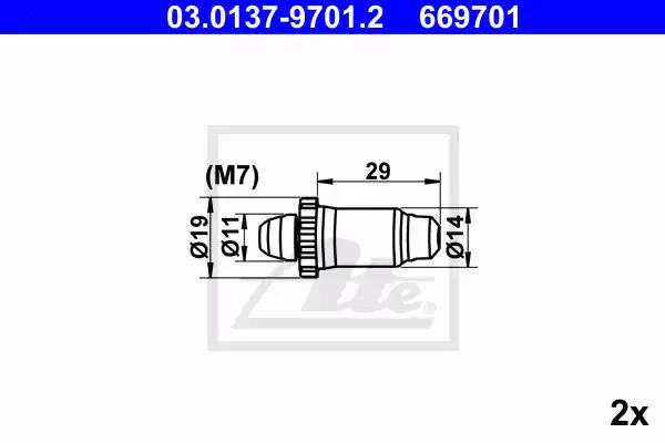 Ремкомплект барабанных колодок ATE 03013797012