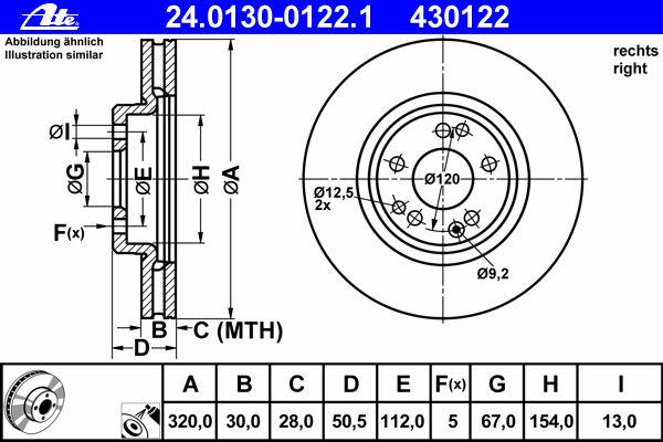 Тормозные диски ATE 24013001221