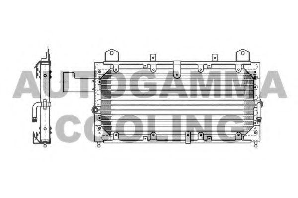 Радиатор кондиционера AUTOGAMMA 102772