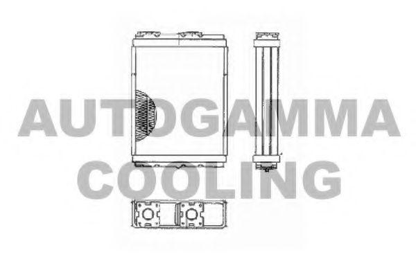 Радиатор печки AUTOGAMMA 103145