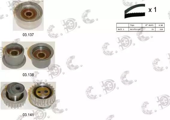 Комплект ГРМ AUTOKIT 045191