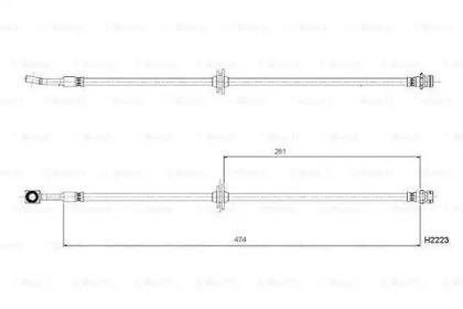 Тормозной шланг BOSCH 0204B08981