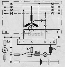 Реле регулятора генератора BOSCH 0986190002