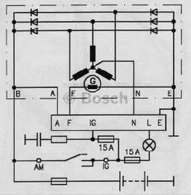 Реле регулятора генератора BOSCH 0986190021