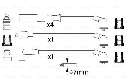 Провода высоковольтные BOSCH 0986356735