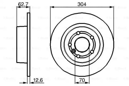 Тормозные диски BOSCH 0986478497