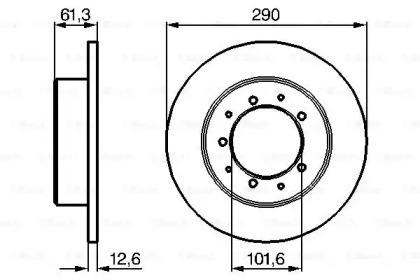 Тормозные диски BOSCH 0986478656