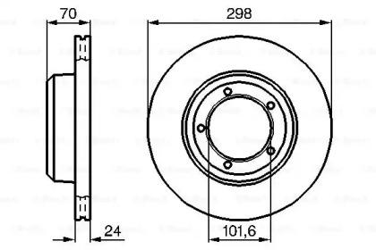 Тормозные диски BOSCH 0986478824