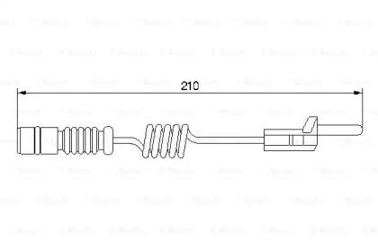 Датчик износа тормозных колодок BOSCH 1987474969