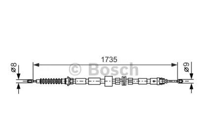 Трос ручного тормоза BOSCH 1987477734