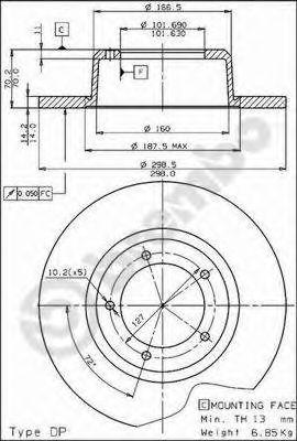 Тормозные диски BREMBO 08534714