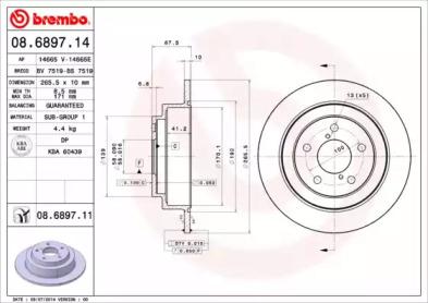 Тормозные диски BREMBO 08689711
