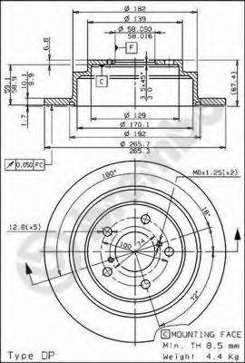 Тормозные диски BREMBO 08689714